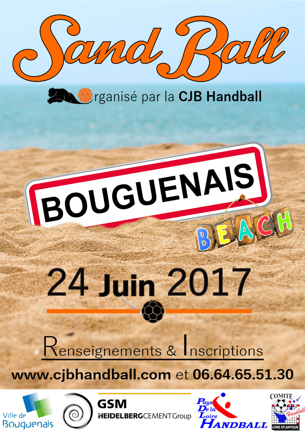 Inscriptions Sandball CJB du 24 juin 2017