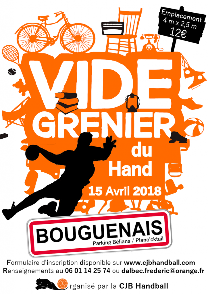 Inscriptions Vide-grenier du 15 avril 2018