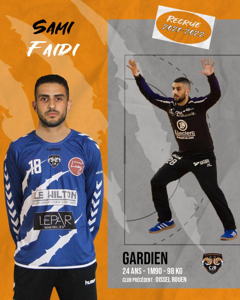 sami faidi gardien cjb handball bouguenais nationale 2